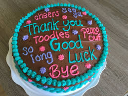 Good Luck Cake Designs Going Away Cake For My Coworker Going Away Cakes Farewell
