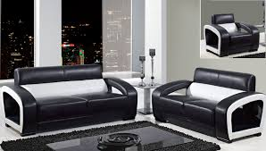 Modern Leather Living Room Furniture Incredible Decoration Black And White Living Room Set Skillful