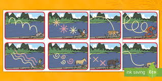 Chinese <b>New Year</b> Animal Race Mark-Making <b>Pattern</b> Cards