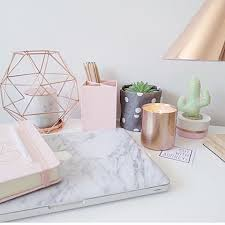 office desk decor ideas. rose gold office supplies marble decor desk ideas
