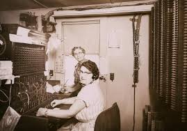 Telephone Switchboard   Photograph   Wisconsin Historical Society