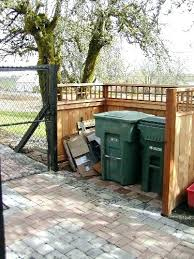 hide garbage cans fence to hide garbage cans garbage area privacy fence looking neat with outdoor hide garbage cans