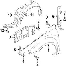 parts com® mazda fender liner w mazdaspeed6 right partnumber 2006 mazda 6 mazdaspeed l4 2 3 liter gas fender components