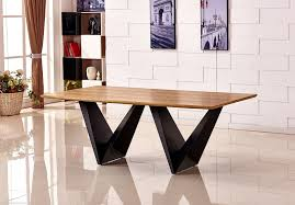elvira large modern wood dining table