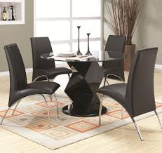 Dining Chair Price Coaster Ophelia Contemporary Five Piece Dining Set With Round