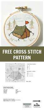 Free Cross Stitch Pattern Lets Go Camping Cross Stitch