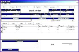 Microsoft Access Work Order Database Sales Order Tracking Excel Template Ms Access Work Database