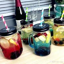 mason jar drinking glasses with lids and straws whole glass cup storage bottle jars mason jar