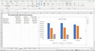 How To Insert A Bar Chart In Excel Make And Format A Column Chart In Excel