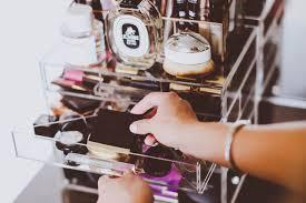 how i organize my makeup vanity