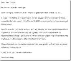 Application For Leave To Manager Marriage Leave Letter Sample Emergency Request To Manager Templates