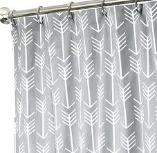 84 long fabric shower curtain white