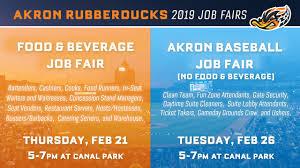 Akron Aeros Seating Chart Two Rubberducks Job Fairs Set For February Akron