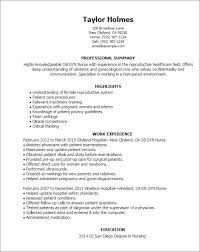 Ob Nurse Resume Professional Ob Gyn Nurse Templates To Showcase Your Talent