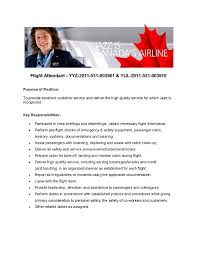 Cover Letter For A Flight Attendant Profesional Resume Template