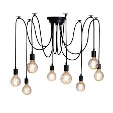 home deco vintage industrial diy lamp fixture retro pendant light ceiling lamp chandeliers 6 8 10 lighting spider lighting light bulb is not included e27