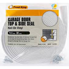 frost king sg30wh vinyl garage door top side weather seal white 1 3 4 x30
