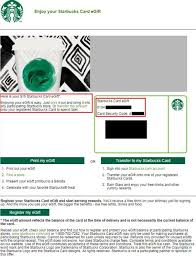 starbucks gift card number and security