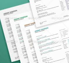 Quick Resume Designed in Clean Style