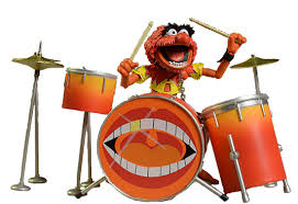 animal muppet drums. Modren Animal Manufactured By Diamond Select Toys 2016 Muppetanimalfigurinedrumjpg Intended Animal Muppet Drums