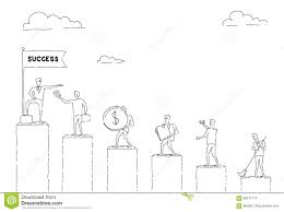 Walking Chart Group Of Business People Walking Chart Bars Up To Financial