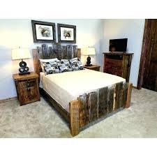 Style Red Oak Bed Bedroom Set Barnwood Farmhouse Barn Wood Panel