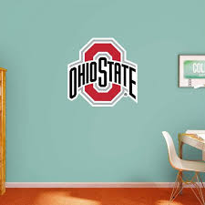 w ohio state buckeyes logo wall mural