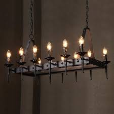 altar modern pendant lamp remote control chandelier candle light fixture suspension rectangular