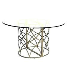 round metal dining table base for on room with glass top marble t