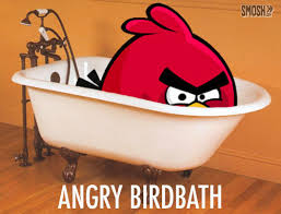 bathroom puns. Punday Bathroom Angry Bird Bathtub Puns