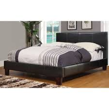 worldwide home furnishings faux leather platform bed view larger