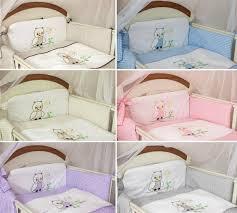 3 pcs baby cot cot bed per set duvet cover pillowcase owl embroidery