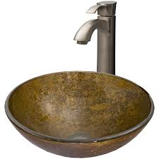 vigo glass sink and vessel faucet set textured copper glass vessel bathroom sink with faucet