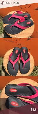 Womens Okabashi Flip Flops Sz Large 9 5 10 5 Like New