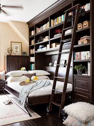 diy murphy bed ideas. Architecture And Interior: Lovely Madison Bifold Bookcase Bed Contemporary Bedroom Dallas By At Murphy With Diy Ideas