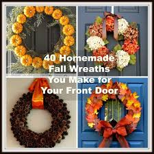 wreaths for front doors40 Homemade Fall Wreaths to Make for Your Front Door