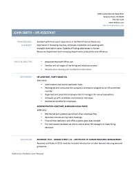 Resume Of Hr Assistant Resume For Your Job Application