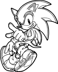 Small Picture Coloring Pages Sonic The Hedgehog Dance Coloring Page