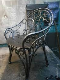 rot iron furniture. Beautiful Forged Steel Chair. #blacksmiths Rock! Wrought Iron ChairsMetal  Rot Iron Furniture