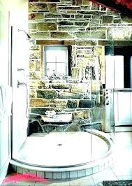 stone wall shower walls showers faux rock panels look effect interior faux stone