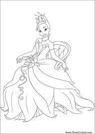 Tekeningen Te Schilderen Kleur Prinses Kikker Print Design 016
