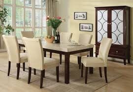 granite top dining table set. White Granite Dining Table Set In Six Classy Chairs Plus Soft Rug And Top E