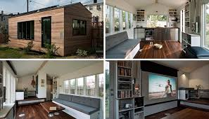 This Small House Is Filled With Design Ideas To Maximize Living. This tiny  home measures