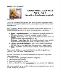 Teacher Appreciation Letters 7 Free Documents In Word Pdf