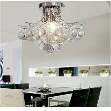 chrome finish crystal chandelier with 3