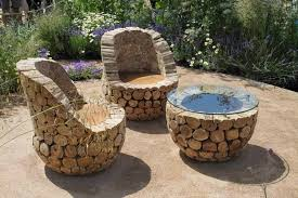 rustic garden furniture. back to natural rustic garden furniture and romantic space