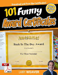 Certificates Funny 101 Funny Award Certificates Pdf Download