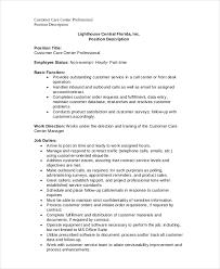 Call Center Job Description 11 Free Word Pdf Documents
