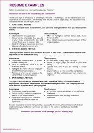 Functional Resume Sample For Fresh Graduate New Chronological Resume