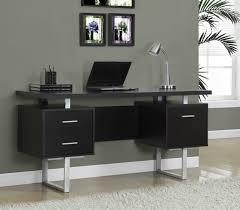 cappuccino hollow core silver metal 60 l office desk monarch specialty i 7080